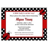 Lady bug baby shower 5 x 7 Flat Cards