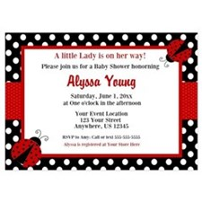 Ladybug Red Shower Invitation Invitations