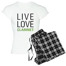 Live Love Clarinet Pajamas