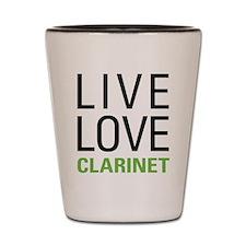 Live Love Clarinet Shot Glass