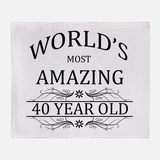 World's Most Amazing 40 Year Old Throw Blanket