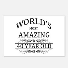 World's Most Amazing 40 Y Postcards (Package of 8)