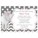 Elephant baby shower 5 x 7 Flat Cards