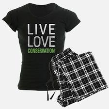 Live Love Conservation pajamas