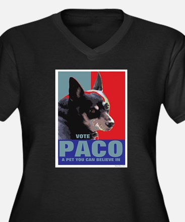 Vote Paco: A pet you can believe in Plus Size T-Sh