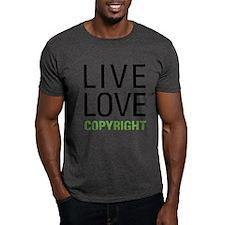 Live Love Copyright T-Shirt