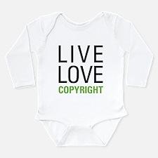 Live Love Copyright Long Sleeve Infant Bodysuit
