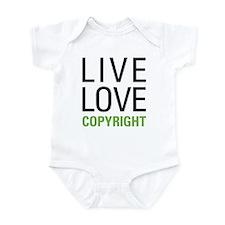 Live Love Copyright Infant Bodysuit