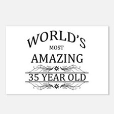 World's Most Amazing 35 Y Postcards (Package of 8)