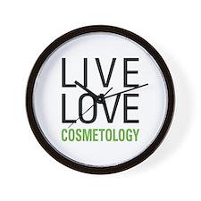 Live Love Cosmetology Wall Clock