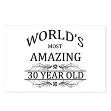 World's Most Amazing 30 Y Postcards (Package of 8)