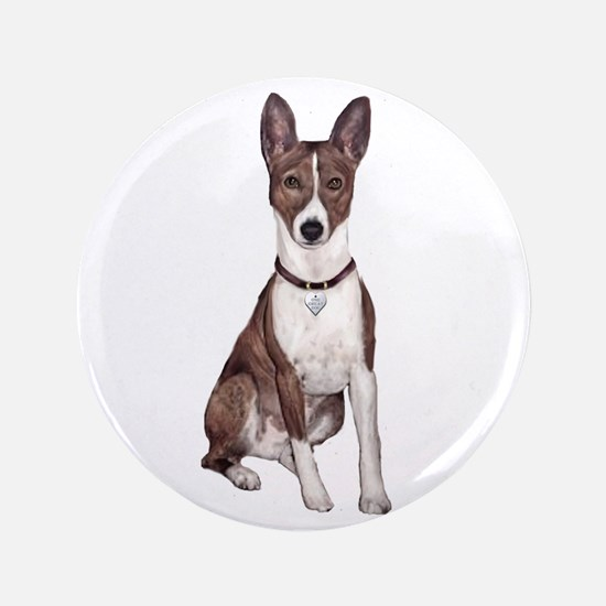 "Basenji (brindle) 3.5"" Button"