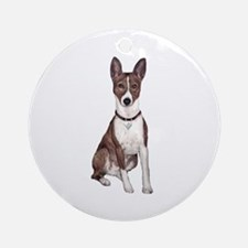 Basenji (brindle) Ornament (Round)