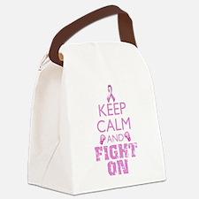 KeepCalmFightOn Canvas Lunch Bag