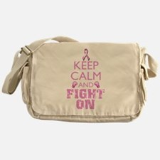 KeepCalmFightOn Messenger Bag