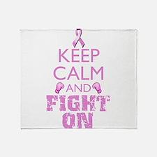 KeepCalmFightOn Throw Blanket