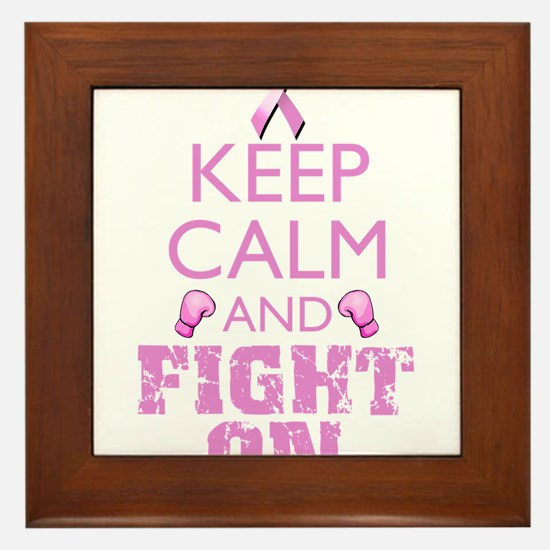KeepCalmFightOn Framed Tile