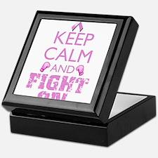KeepCalmFightOn Keepsake Box