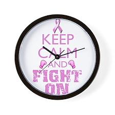 KeepCalmFightOn Wall Clock
