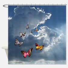 Butterfly Clouds Shower Curtain