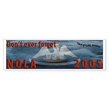 "Louisiana flag Katrina NOLA ""Heck Bumper Sticker"