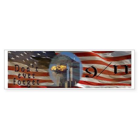 American Flag 9/11 Sept 11 Don't Sticker (Bumper)