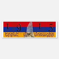 Armenia Flag 1915 Armenian Genoci Bumper Bumper Sticker