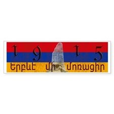 Armenia Flag 1915 Armenian Genoci Bumper Sticker