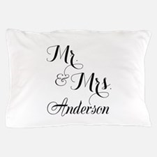 Mr. & Mrs. Personalized Monogrammed Pillow Case