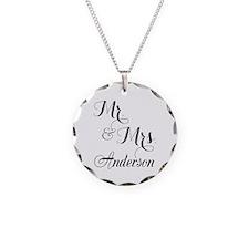 Mr. & Mrs. Personalized Mono Necklace