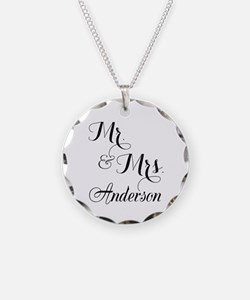 Mr. & Mrs. Personalized Mono Necklace