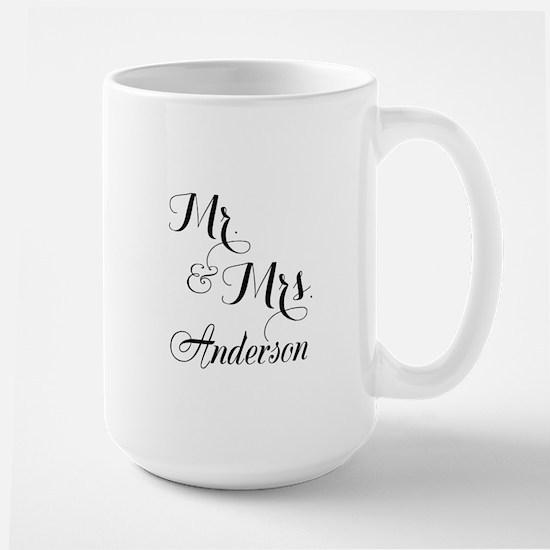 Mr. & Mrs. Personalized Monogrammed Large Mug