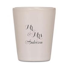Mr. & Mrs. Personalized Monogrammed Shot Glass