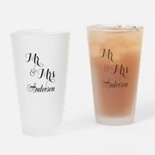 Mr. & Mrs. Personalized Monogrammed Drinking Glass
