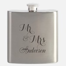 Mr. & Mrs. Personalized Monogrammed Flask