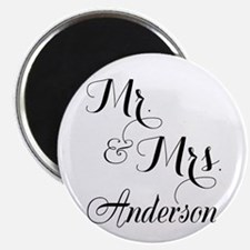 "Mr. & Mrs. Personalized Mon 2.25"" Magnet (10 pack)"