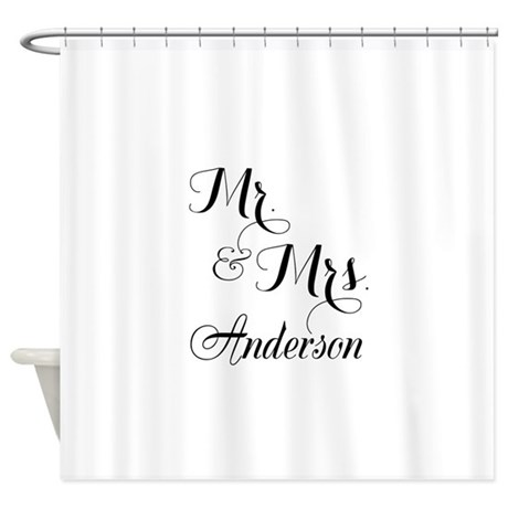 mr u0026 mrs monogrammed shower curtain