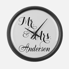 Mr. & Mrs. Personalized Monogramm Large Wall Clock