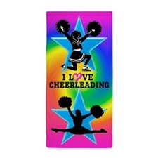 Cute Cheerleader Beach Towel