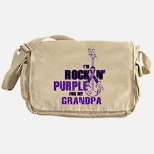 RockinPurpleForGrandpa Messenger Bag