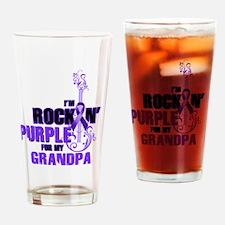 RockinPurpleForGrandpa Drinking Glass
