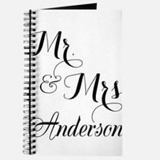 Mr and Mrs Personalized Monogrammed Journal