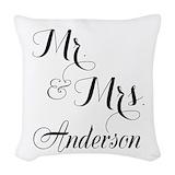 Mr mrs Woven Pillows