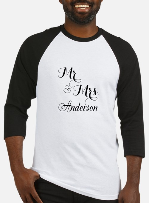 Mr and Mrs Personalized Monogrammed Baseball Jerse