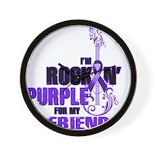 RockinPurpleForFriend Wall Clock