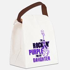 RockinPurpleForDaughter Canvas Lunch Bag