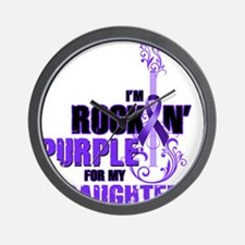 RockinPurpleForDaughter Wall Clock