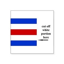 US Naval Flag Code Charlie Sticker