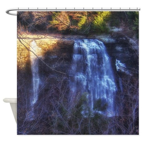 Scenic Water Fall Shower Curtain By Showercurtainartgifts