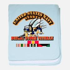 Navy - Seabee - Desert Storm Vet baby blanket